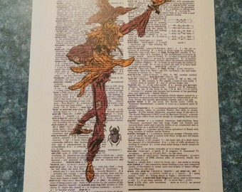 DC comics Scarecrow on dictionary page print