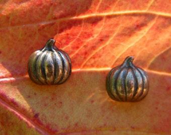 Bronze Pumpkin Earrings