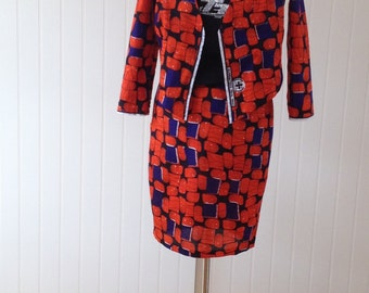 African wax print summer suit