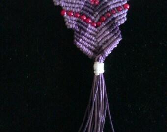macrame necklace ,  handmade jewelry , macrame jewelry
