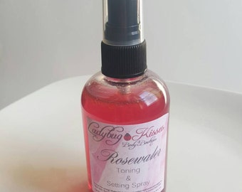Rosewater Toner & Setting Spray, Rosewater, Toner, Makeup Setting Spray