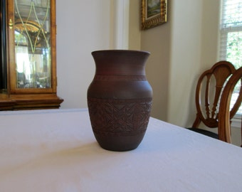 Darlene Smith Vase / Six Nations Pottery / Signed / Native American / First Nations Pottery / Hand Thrown