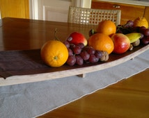 Tray centerpieces in oak recovered from wine barrels, rustic décor, traditional objects recycled wine barrels recovery