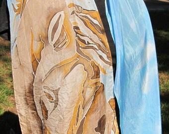 Horse silk scarf