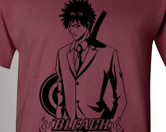 Bleach T-Shirt, Ichigo Kurosaki, Bleach Logo, Shield & Sword