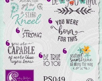 PS049 - Life/Inpirational Quote Vectors; ai, eps, svg, gsd, dxf; ( png files and jpeg files also available )