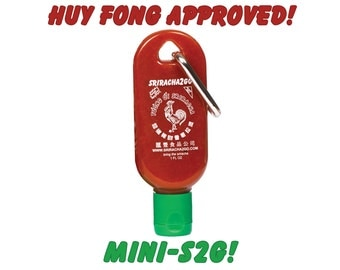 Mini-S2G 1-Pack: 1oz Sriracha Hot Sauce Mini Keychain Bottle (Empty)