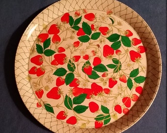 1970s Strawberry Serving Tray