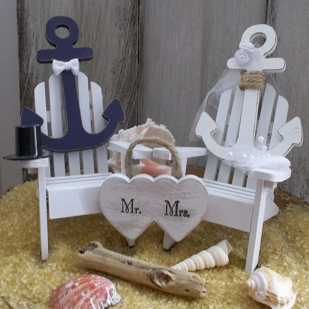 Nautical Wedding Cake Topper Anchor Wedding Cake Topper