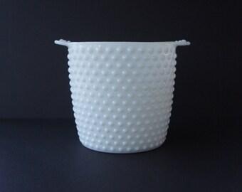 Fenton Hobnail Milk Glass Ice Bucket