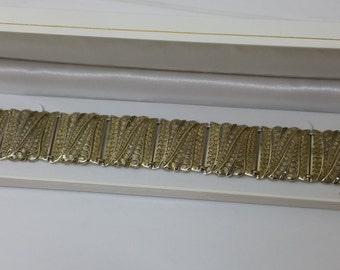 Bracelet silver 800 Markasiten Art Nouveau style filigree old SA251