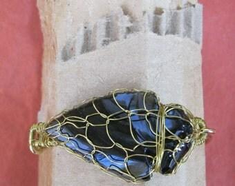 Arrowhead Knitted Wire Bracelet