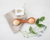 Organic wooden rattle Pear & Ashwood New baby gift Baby shower Heirloom Wooden grasping toy