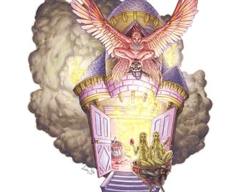 Fairy Tale Art Print: Fitcher's Bird