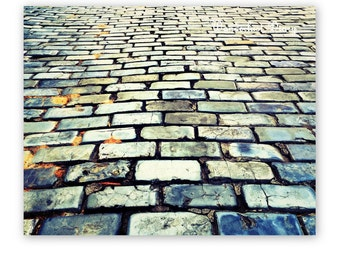 Urban Art, Puerto Rico, Road Photography, Cobblestone Streets, Urban Decor, Street Photography, Abstract Print, Wall Art, Travel Photography