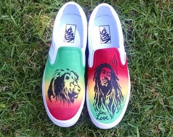 Rasta Marley Custom Vans