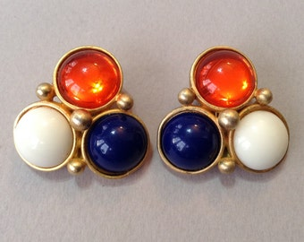 Rare Georgiou Designed Clip Earrings