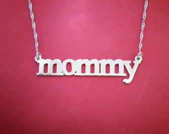 Mother Necklace Sterling Silver Mommy Necklace Name Chain Silver Mother Name Necklace Mother Jewelry Grandmother Necklace