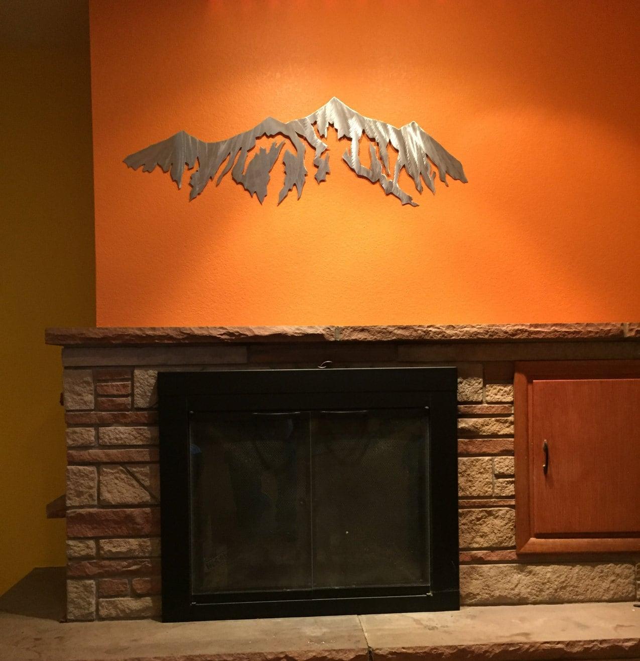 Large Metal Wall Art. Breckenridge Ski Resort. Mountain