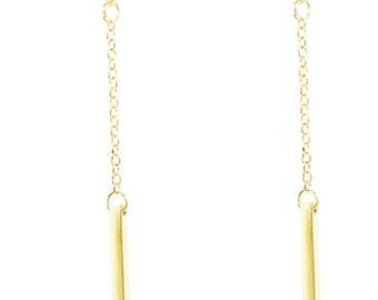 Bar earrings/ layered earrings