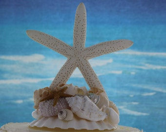 Starfish Cake Top / Wedding Cake Topper / Beach themed Cake top