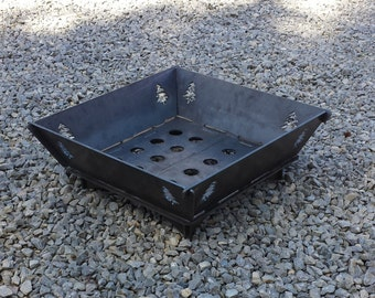 "20"" Custom Campfire Firepit Grill Camping Portable Backyard Fire"