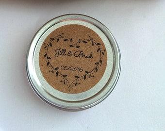 Lip Balm Favors- 50 Personalized Wedding Favors- Custom Bridal Shower Favors