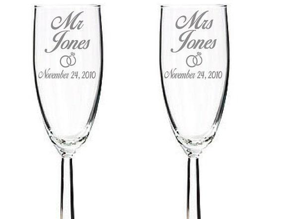 Idoengraving Bride Groom Toasting Glasses With Custom Name Mr