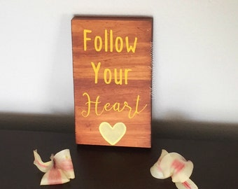 Wood sign, rustic gift, mom gift, sister gift, last minute gift, hand painted, heart sign, motivational sign