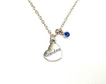 Grandma Necklace, Grandma Jewelry, Grandma Pendant, Grandma Charm, Grandmother Necklace, Grandmother Jewelry, Grandma Gift, Gift for Grandma