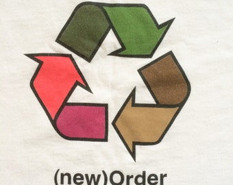 """Extremely rare New Order """"Recycle"""" official tour t shirt"""