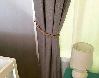 Handmade Jute Rope Curtain Tie Backs | Single (1) or a Pair (2)