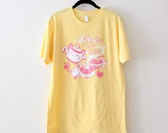 Yellow Kit-tea Time Tshirt