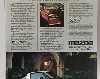 1980 Mazda RX-7 Print Ad
