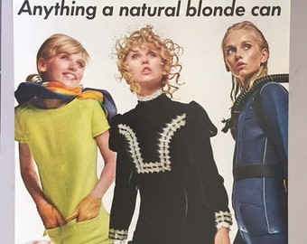 1968 Clairol Print Ad for Naturally Blonde Hair Toner