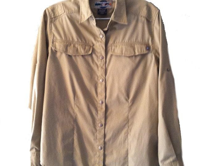 Women's 2/4 Ex Officio Travel Wear Khaki Kakhi Shirt