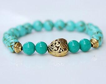 Turquoise Bracelet  valentines day gift love Bracelet Turquoise Jewelry love Jewelry Jade bracelet Jade Jewelry mint Bracelet mint Jewelry