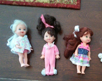 """90's Set of 5 Adorable Barbie Sisters (Little 4"""")"""
