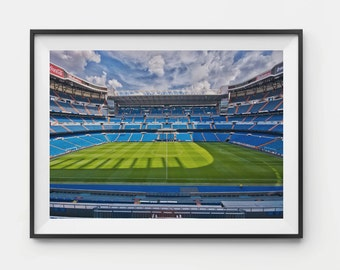 Real Madrid Print, Real Madrid Poster, Cristiano Ronaldo, Madrid Decor, Wall Art, Real Madrid Stadium, Gareth Bale, Zidane, Iker, Bernabeu