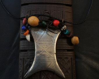 TUAREG TCHEROT,ethnic jewelry,Tuareg talisman,African jewelry,Tuareg amulet