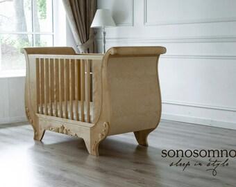 cuna cama de madera de abedul slida muebles infantiles muebles de lujo seguridad