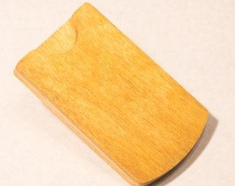 Yellowheart Wood Business Card Holder