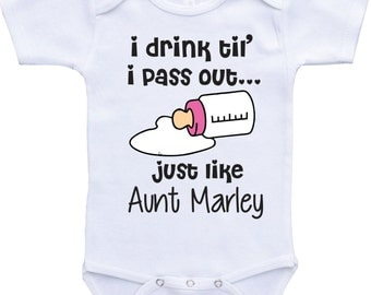 I drink until i pass out funny baby onesies aunt and niece baby clothes aunt onsie auntie onesie baby aunt shirt baby girl clothes auntie