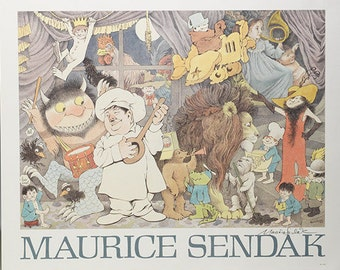 Maurice Sendak UNTITLED POSTER Collage 1990-Signed