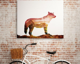 Wolf Print, Woodlands Decor, Nursery Wolf Wall Art, Rustic Animal Print, Wolf Printable Art, Rustic Printable Nursery Rustic Woodlands Art