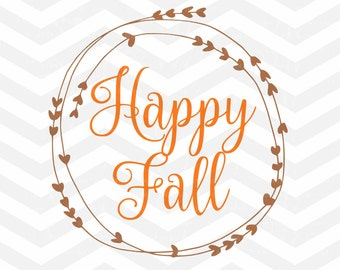 Happy File SVG File, Fall Quote SVG, Sayings svg Cut Files, Happy Fall Yall, Quote Overlay, Cricut, Silhouette, Iron On, Thankful