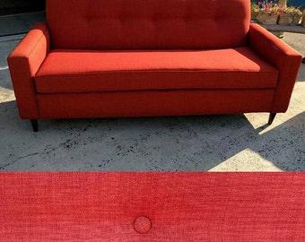 "82"" Burnt Orange Mid-Century Modern Sofa~ Design 59 inc"