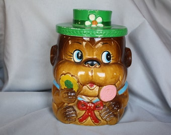 Vintage Monkey Cookie Jar *Japan*