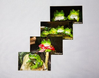 Stickyfrogs Decorative Photo Magnets - Set of 4