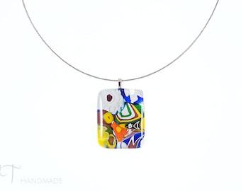 Murano glass pendant, Venetian glass Murano necklace, Italian jewelry Murano glass necklace Made in Italy Murano glass jewelry Italian glass